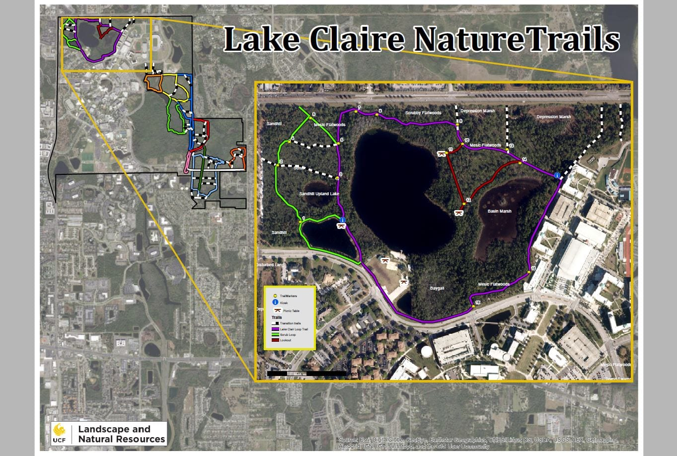 Lake Claire Trails Map